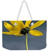 Yellow Flower Against A Stormy Sky Weekender Tote Bag