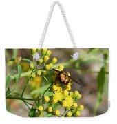 Yellow Flower Bee Weekender Tote Bag