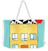 Yellow Flower House Weekender Tote Bag by Linda Woods