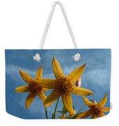 Yellow Flower On Blue Sky Weekender Tote Bag