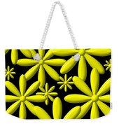 Yellow Flower Power 3d Digital Art Weekender Tote Bag