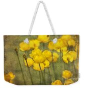 Yellow Flowers With Texture Weekender Tote Bag