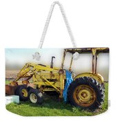 Yellow Ford Tractor Weekender Tote Bag