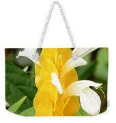Yellow Ginger Blossom Weekender Tote Bag