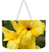 Yellow Gladiolus Weekender Tote Bag