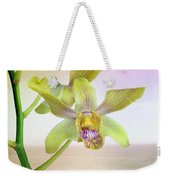 Yellow-green Orchid Weekender Tote Bag