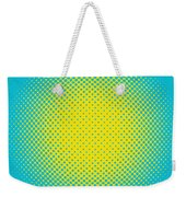Optical Illusion - Yellow On Aqua Weekender Tote Bag