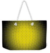 Optical Illusion - Yellow On Black Weekender Tote Bag