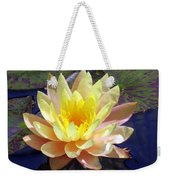 Yellow Hardy Water Lily Weekender Tote Bag