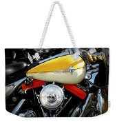 Yellow Harley Weekender Tote Bag by Lainie Wrightson