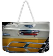 Yellow Harley Saddlebags Weekender Tote Bag