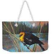 Yellow Headed Black Bird Weekender Tote Bag