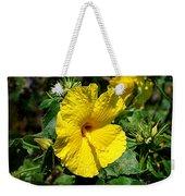 Yellow Hibiscus Hawaii State Flower Weekender Tote Bag