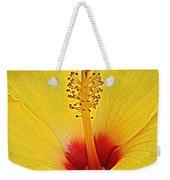 Yellow Hibiscus Up Close Weekender Tote Bag