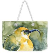 'akiapola'au - Hawaiian Yellow Honeycreeper Weekender Tote Bag