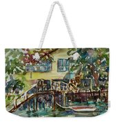 Yellow House By The River Weekender Tote Bag