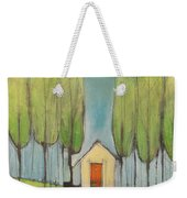 Yellow House In Woods Weekender Tote Bag