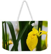 Yellow Iris Weekender Tote Bag