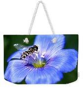 Blue Flax Flower Weekender Tote Bag