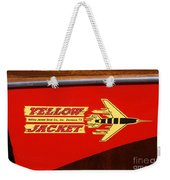 Yellow Jacket Outboard Boat Weekender Tote Bag
