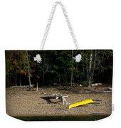 Yellow Kayak Weekender Tote Bag