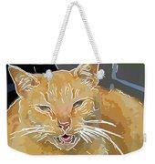 Yellow Kitty Weekender Tote Bag