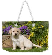 Yellow Labrador Puppy Weekender Tote Bag