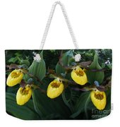 Yellow Lady Slippers On Forest Floor Weekender Tote Bag
