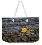 Yellow Leaf Weekender Tote Bag
