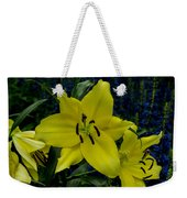 Yellow Lillies Weekender Tote Bag