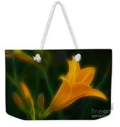 Yellow Lily 6011-fractal Weekender Tote Bag