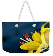 Yellow Lily Stamens Weekender Tote Bag