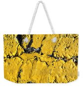 Yellow Line Abstract Weekender Tote Bag