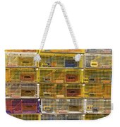 Yellow Lobster Traps In Maine Weekender Tote Bag