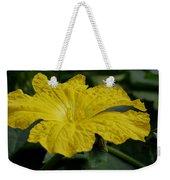 Yellow Luffa Blossom Weekender Tote Bag