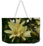 Yellow Magnolia Weekender Tote Bag