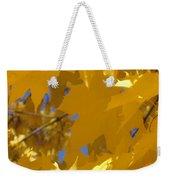 Yellow Maple Leaves Weekender Tote Bag