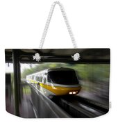 Yellow Monorail Entering The Station 02 Weekender Tote Bag