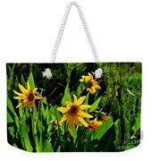 Yellow Mountain Flowers Weekender Tote Bag
