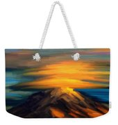 Yellow Mountaintop Hugged By Yellow Cloud  Weekender Tote Bag