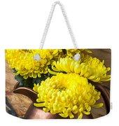 Yellow Mums In Copper Vase Weekender Tote Bag