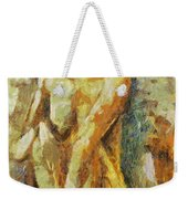 Yellow Nude Weekender Tote Bag