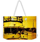 Yellow On The Water Weekender Tote Bag