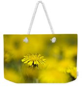 Yellow On Yellow Dandelion Weekender Tote Bag