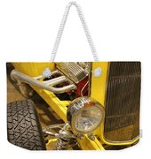 Street Car - Yellow Open Engine Weekender Tote Bag