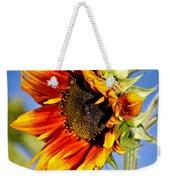 Yellow Orange Sunflower Weekender Tote Bag