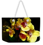 Yellow Orchids Shadow And Light Weekender Tote Bag