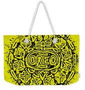 Yellow Oreo Weekender Tote Bag