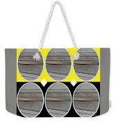 Yellow Oval Weekender Tote Bag