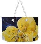 Yellow Pansy Weekender Tote Bag